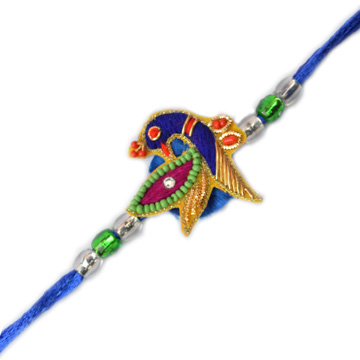 -Fancy peacock Zardosi Rakhi,Send Rakhi online,send rakhi,online send rakhi,rakhi to india,send rakhi to india,rakhi shop india