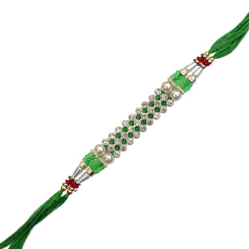 -Rich Diamond Moti Rakhi,Send Rakhi online,send rakhi,online send rakhi,rakhi to india,send rakhi to india,rakhi shop india