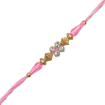 Threads Rakhi-Pink Rakhi Threads with Diamond ,Send Rakhi online,send rakhi,online send rakhi,rakhi to india,send rakhi to india,rakhi shop india