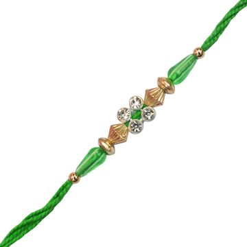 4 Diamond Green Bhai Rkhi Threads