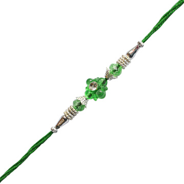 -Green Floral Bhai Rakhi Thraeds,Send Rakhi online,send rakhi,online send rakhi,rakhi to india,send rakhi to india,rakhi shop india
