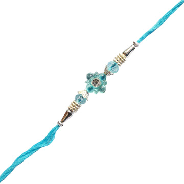 Bhai Rakhi-Sky Blue Gentle Rakhi ,Send Rakhi online,send rakhi,online send rakhi,rakhi to india,send rakhi to india,rakhi shop india