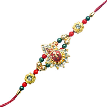 -Sparking God Krishna Metal Rakhi,Send Rakhi online,send rakhi,online send rakhi,rakhi to india,send rakhi to india,rakhi shop india