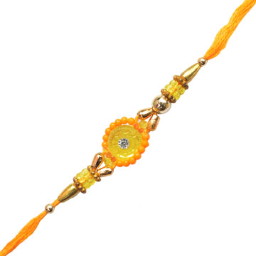 -Flower With Moti Bhai Rakhi,Send Rakhi online,send rakhi,online send rakhi,rakhi to india,send rakhi to india,rakhi shop india