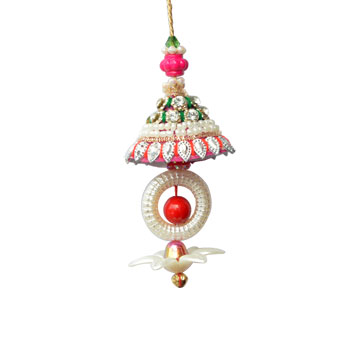 -Pink Pearl Moti Lumba Rakhi,Send Rakhi online,send rakhi,online send rakhi,rakhi to india,send rakhi to india,rakhi shop india