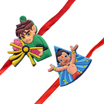 -Ben 10 Bheem 2 Rakhi Set,Send Rakhi online,send rakhi,online send rakhi,rakhi to india,send rakhi to india,rakhi shop india