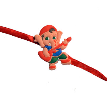 -Dancing Ganesh Kids Rakhi,Send Rakhi online,send rakhi,online send rakhi,rakhi to india,send rakhi to india,rakhi shop india