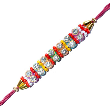 -Diamond Designer kundan Rakhi,Send Rakhi online,send rakhi,online send rakhi,rakhi to india,send rakhi to india,rakhi shop india