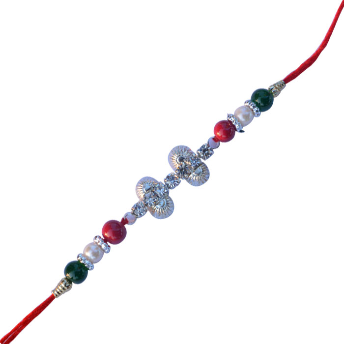 -Silver Metal Rakhi for Bhai,Send Rakhi online,send rakhi,online send rakhi,rakhi to india,send rakhi to india,rakhi shop india
