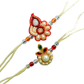 -2 Rich Foloral Rakhi Set,Send Rakhi online,send rakhi,online send rakhi,rakhi to india,send rakhi to india,rakhi shop india