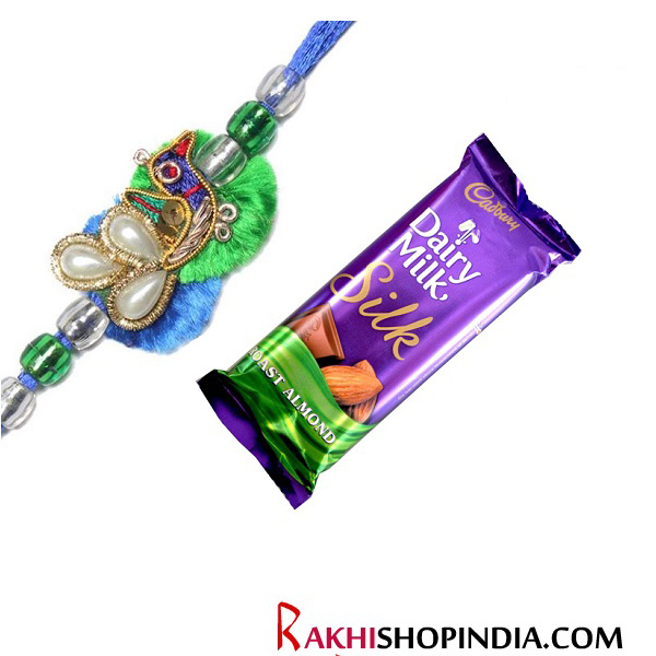 -Mayur Bhai Rakhi with Chocolate,Send Rakhi online,send rakhi,online send rakhi,rakhi to india,send rakhi to india,rakhi shop india