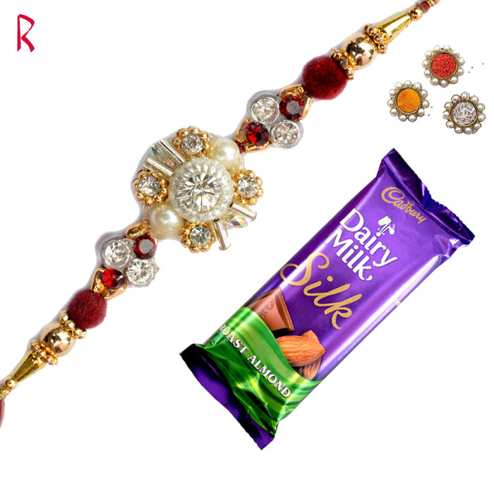 Rakhi With Chocolates-Stylish and designer Chocolate Rakhi,Send Rakhi online,send rakhi,online send rakhi,rakhi to india,send rakhi to india,rakhi shop india