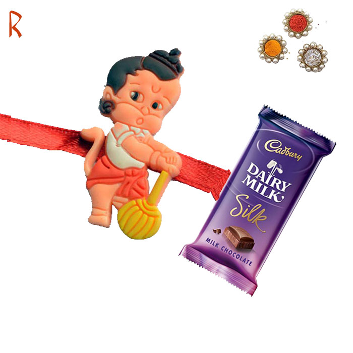-Bal hanuman Kids Sweet Chocolate Rakhi,Send Rakhi online,send rakhi,online send rakhi,rakhi to india,send rakhi to india,rakhi shop india