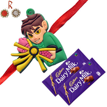 -Ben10 Kids Rakhi with 2 Chocolates,Send Rakhi online,send rakhi,online send rakhi,rakhi to india,send rakhi to india,rakhi shop india