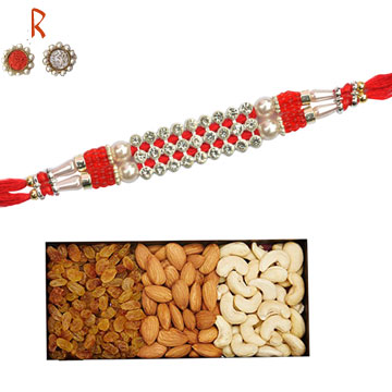 -Diamond Premium Rakhi with Dry Fruit for Brother,Send Rakhi online,send rakhi,online send rakhi,rakhi to india,send rakhi to india,rakhi shop india