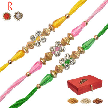 -3 Rakhi Set with Dry Fruits Box,Send Rakhi online,send rakhi,online send rakhi,rakhi to india,send rakhi to india,rakhi shop india
