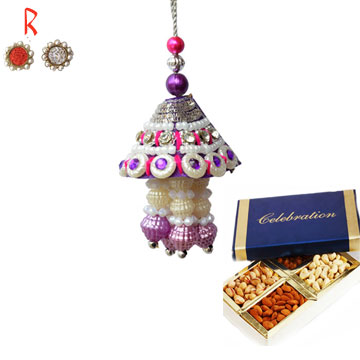 -Bhabhi Rakhi with Dry Fruits,Send Rakhi online,send rakhi,online send rakhi,rakhi to india,send rakhi to india,rakhi shop india