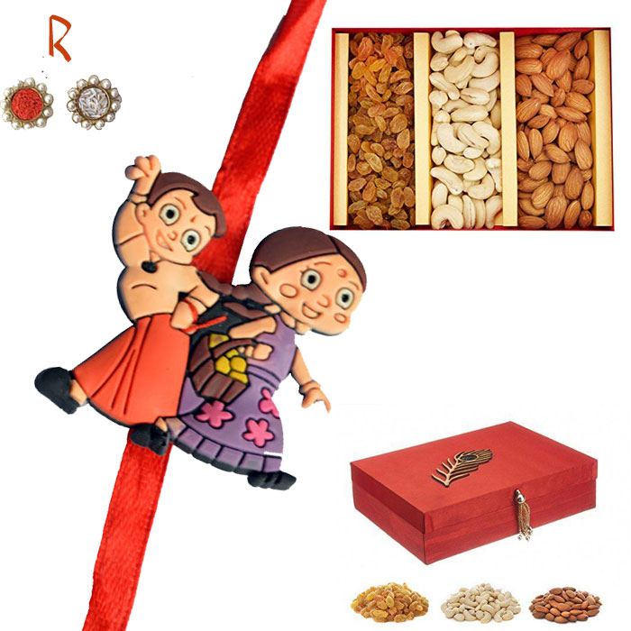 -Kids Rakhi with  Dry fruits Gift Box,Send Rakhi online,send rakhi,online send rakhi,rakhi to india,send rakhi to india,rakhi shop india