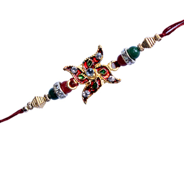 God Rakhi-Swasthik Designer Rakhi,Send Rakhi online,send rakhi,online send rakhi,rakhi to india,send rakhi to india,rakhi shop india