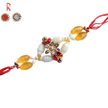 Designer Rakhi-Elegant Golden Rakhi,Send Rakhi online,send rakhi,online send rakhi,rakhi to india,send rakhi to india,rakhi shop india