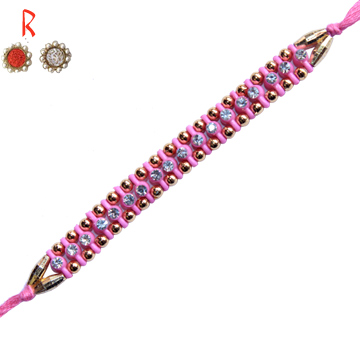 -Diamonds Touch Pink Beads Designer Rakhi,Send Rakhi online,send rakhi,online send rakhi,rakhi to india,send rakhi to india,rakhi shop india