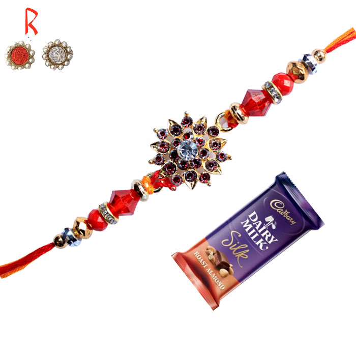 -The Designer Rakhi with Chocolate,Send Rakhi online,send rakhi,online send rakhi,rakhi to india,send rakhi to india,rakhi shop india