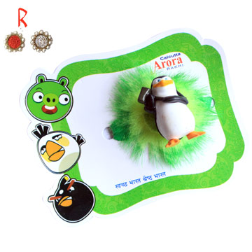 Kids Rakhi-Super Panguin Kid Rakhi Toy for Rakhi,Send Rakhi online,send rakhi,online send rakhi,rakhi to india,send rakhi to india,rakhi shop india