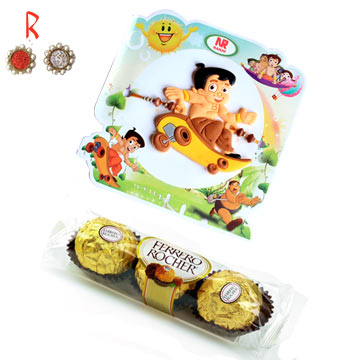 -Chota Bhim Kids Rakhi Ferrero chocolates,Send Rakhi online,send rakhi,online send rakhi,rakhi to india,send rakhi to india,rakhi shop india