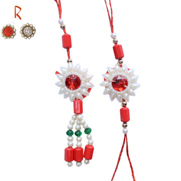 -White Flower Pair Rakhi to Brother,Send Rakhi online,send rakhi,online send rakhi,rakhi to india,send rakhi to india,rakhi shop india