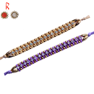 True Color Of 2 Diamond Rakhi Set for Raksha Bandhan Celebration