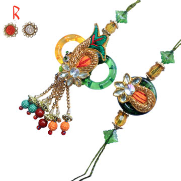 -Traditional Bhaiya-Bhabhi Rakhi Pair Rakhi for India and USA Canada UAE  Australia Newzealand Singap,Send Rakhi online,send rakhi,online send rakhi,rakhi to india,send rakhi to india,rakhi shop india