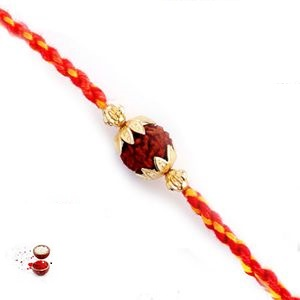 -Rudrakshand Regular Rakhi,Send Rakhi online,send rakhi,online send rakhi,rakhi to india,send rakhi to india,rakhi shop india