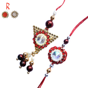 -Rajsthani Pair Rakhi for Bhaiya Bhabhi,Send Rakhi online,send rakhi,online send rakhi,rakhi to india,send rakhi to india,rakhi shop india