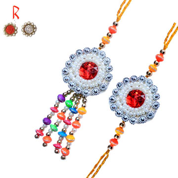 -Designer Bhaiya-Bhabhi Rakhi Pair Rakhi for India and USA Canada UAE Australia Newzealand Oman Duabi,Send Rakhi online,send rakhi,online send rakhi,rakhi to india,send rakhi to india,rakhi shop india