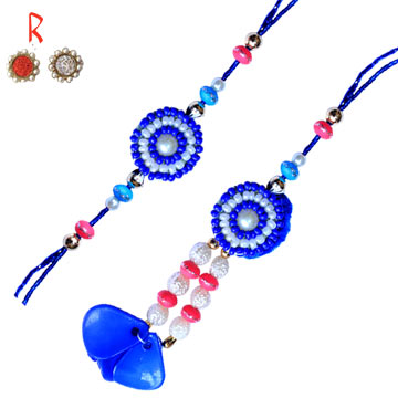 Stylish Pair  Rakhi online for Bhaiya-Bhabhi Rakhi to India Singapore  USA Canada UAE Australia Newz