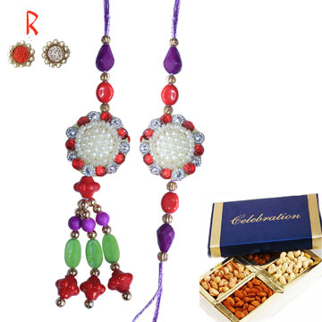 -Dry Fruits Pair Rakhi for India Canada USA UK UAE,Send Rakhi online,send rakhi,online send rakhi,rakhi to india,send rakhi to india,rakhi shop india