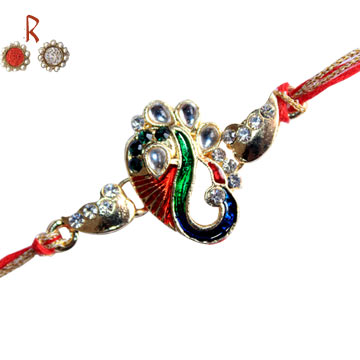 Designer Rakhi-Shri Ganesha Designer Rakhi  for USA Oman UAE India Singapore Hongkong,Send Rakhi online,send rakhi,online send rakhi,rakhi to india,send rakhi to india,rakhi shop india
