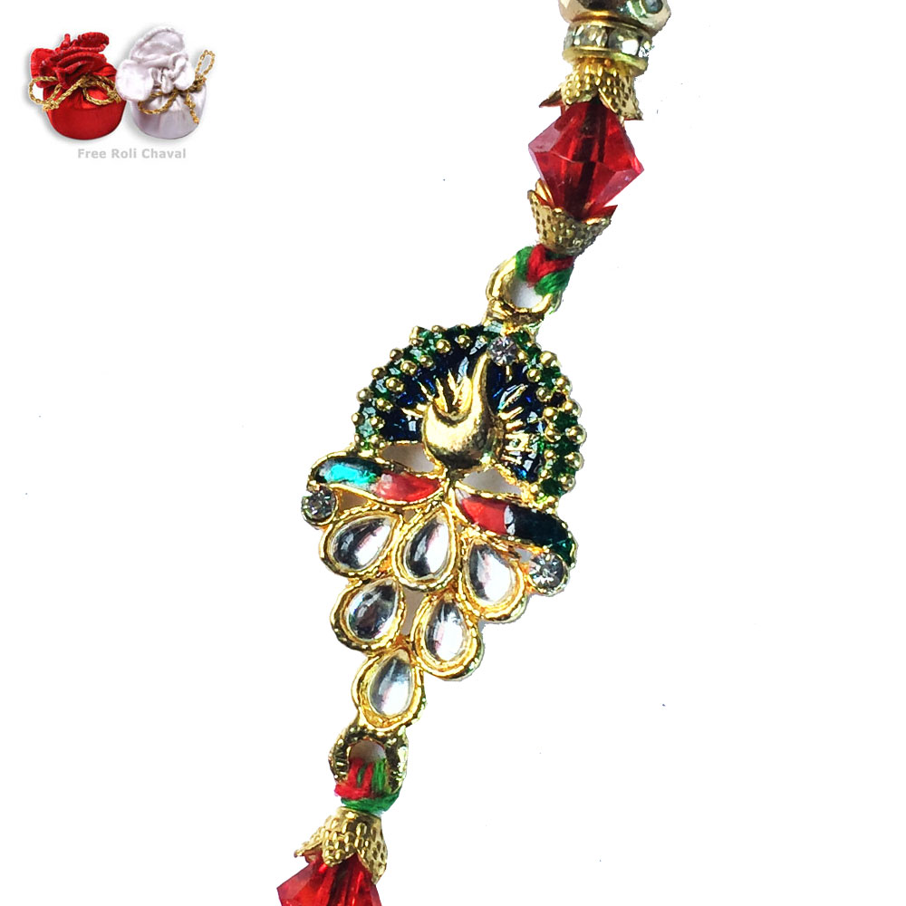-Amazing Peacock Rakhi to USA India dubai UAE Bahrain ,Send Rakhi online,send rakhi,online send rakhi,rakhi to india,send rakhi to india,rakhi shop india