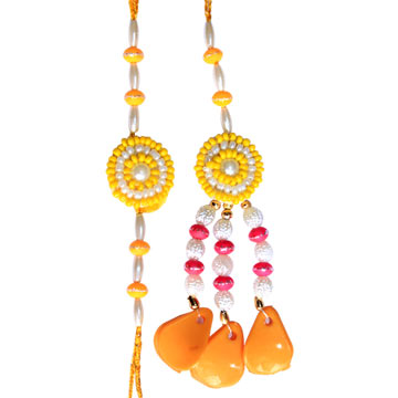 -Yaliow Flower Bhaiya Bhabhi Rakhi,Send Rakhi online,send rakhi,online send rakhi,rakhi to india,send rakhi to india,rakhi shop india