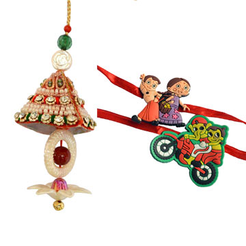 Rakhi Set-Bhabhi Rakhi with kids Rakhi Set,Send Rakhi online,send rakhi,online send rakhi,rakhi to india,send rakhi to india,rakhi shop india