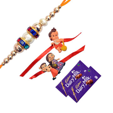-Sparkling Family Rakhi Set With Chocolate,Send Rakhi online,send rakhi,online send rakhi,rakhi to india,send rakhi to india,rakhi shop india