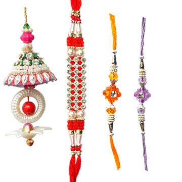 -Custom Design Family Rakhi Set,Send Rakhi online,send rakhi,online send rakhi,rakhi to india,send rakhi to india,rakhi shop india