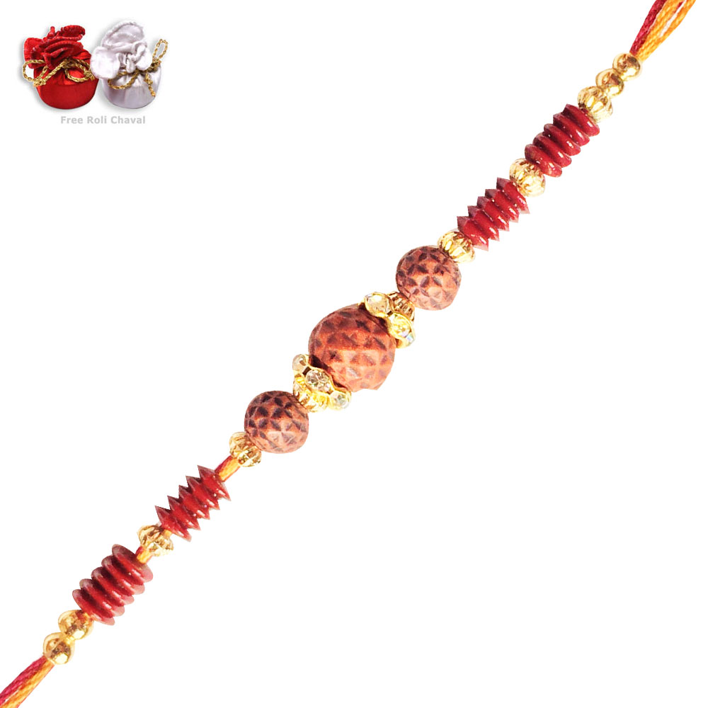 -Exclusive Handmade Rudraksh Rakhi,Send Rakhi online,send rakhi,online send rakhi,rakhi to india,send rakhi to india,rakhi shop india