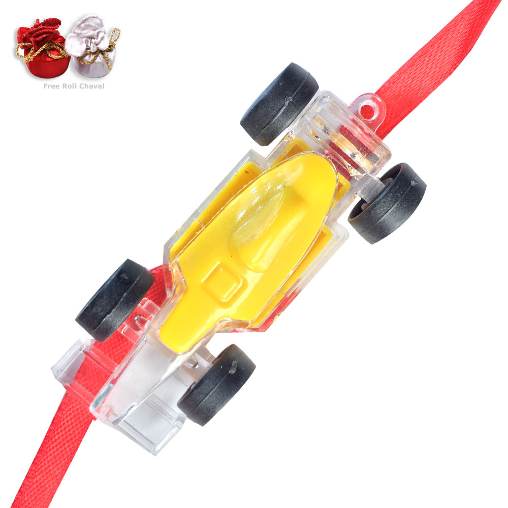 -Racing F1 Lightning Car Rakhi  for Kids ,Send Rakhi online,send rakhi,online send rakhi,rakhi to india,send rakhi to india,rakhi shop india