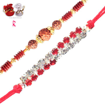 -2 Bhai Rakhi Set,Send Rakhi online,send rakhi,online send rakhi,rakhi to india,send rakhi to india,rakhi shop india