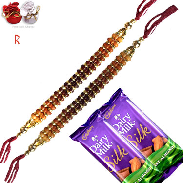 -New Design2 Rakhi Set With Chocolate,Send Rakhi online,send rakhi,online send rakhi,rakhi to india,send rakhi to india,rakhi shop india
