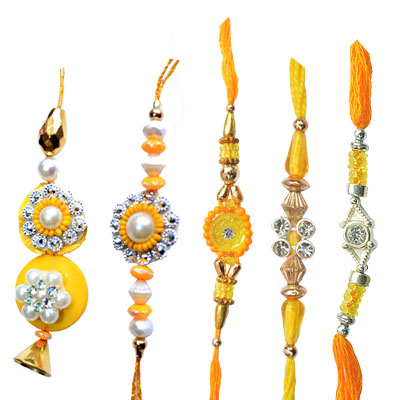 -Yallow-Rakhi-Set,Send Rakhi online,send rakhi,online send rakhi,rakhi to india,send rakhi to india,rakhi shop india