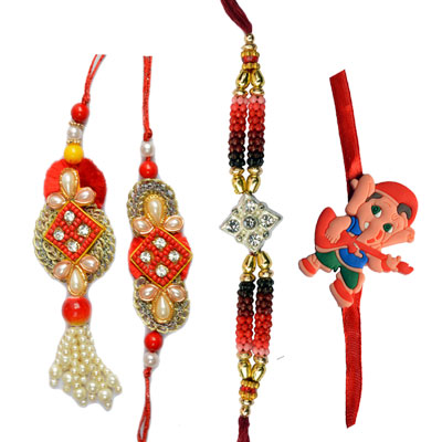 Bhaiya Bhabhi Rakhi-Traditional Rakhi Family Set for Saudi Arabia  and Online  in UAE  from UK,Send Rakhi online,send rakhi,online send rakhi,rakhi to india,send rakhi to india,rakhi shop india
