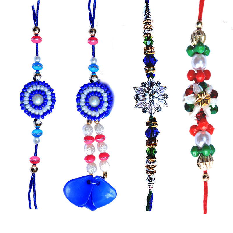 -Blue Sparking Rakhi Set for USA  Unique Rakhi for Canada,Send Rakhi online,send rakhi,online send rakhi,rakhi to india,send rakhi to india,rakhi shop india