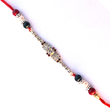 -Designer Diamond Rakhi Thread,Send Rakhi online,send rakhi,online send rakhi,rakhi to india,send rakhi to india,rakhi shop india